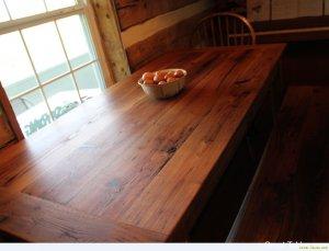 Wormy Chestnut Kitchen Table