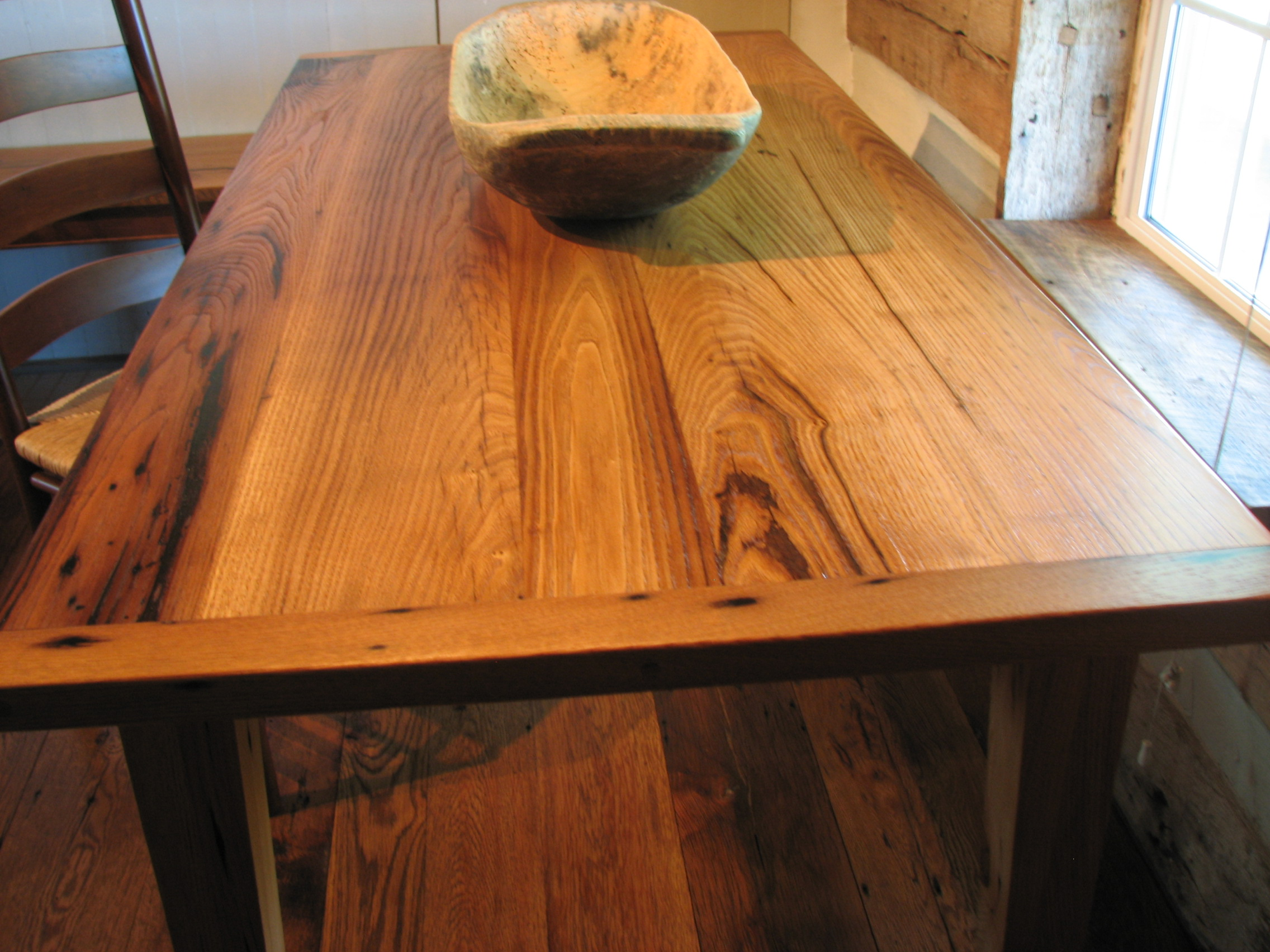 Great Tables Made By Reclaimed InnovationsReclaimed Wood Furniture - Salvaged wood farmhouse table