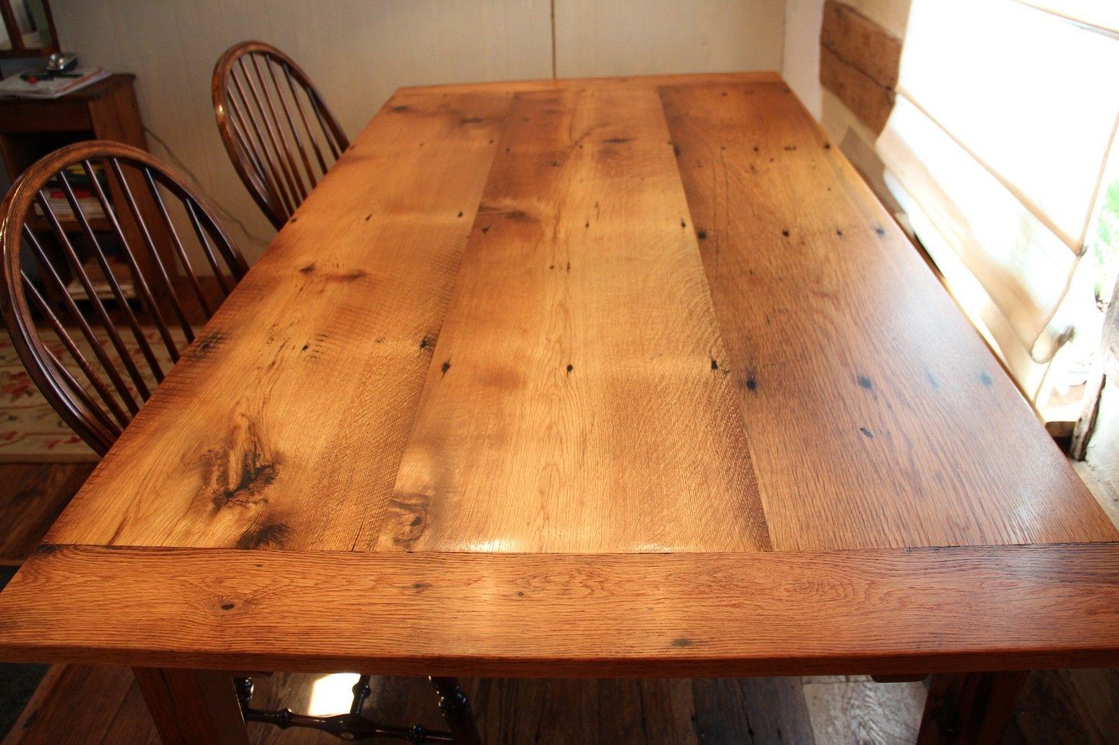 reclaimed oak with extensions table reclaimed wood