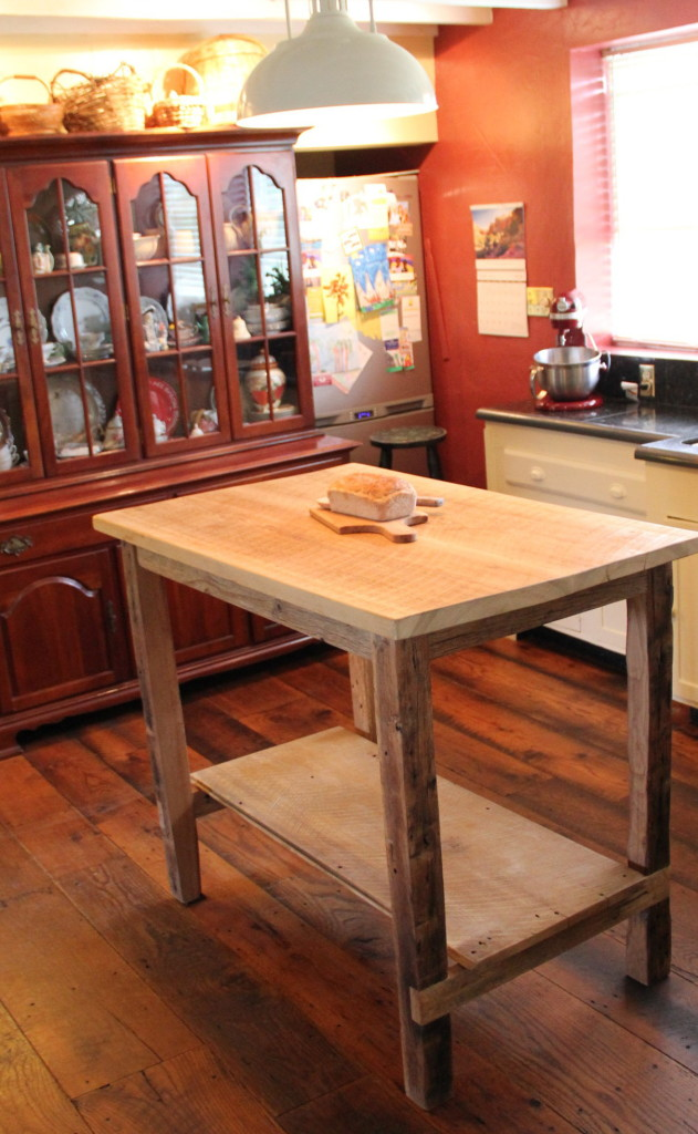 Barn Wood Kitchen Island - Reclaimed Wood Furniture in ...