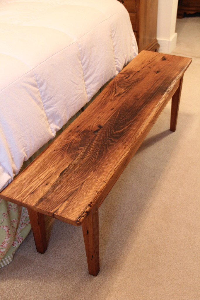 Wormy Chestnut Bench Reclaimed Wood Furniture In