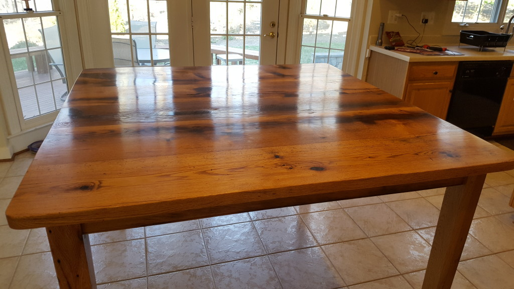 Reclaimed Oak Table Counter Top Height Reclaimed Wood - Reclaimed oak table top