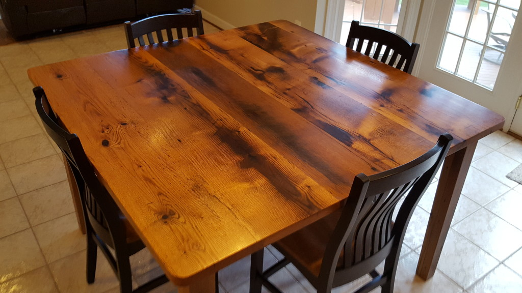 Reclaimed Wood Table. Counter Height ...
