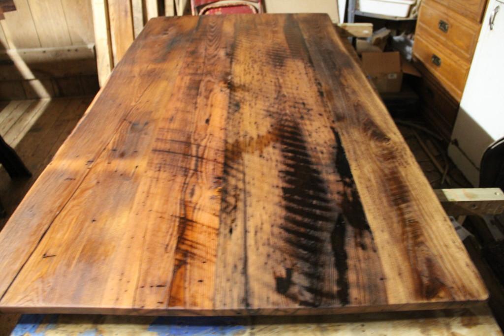 wormy chestnut farmhouse table reclaimed wood furniturereclaimed